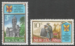 New Zealand. 1969 Centenary Of Otago University. Used Complete Set. SG 897-898 - New Zealand