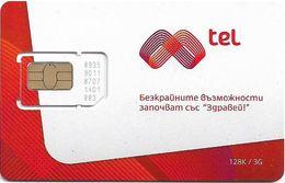 Bulgaria - M-Tel - Prima Red White - GSM SIM (Type #4), Mint - Bulgaria
