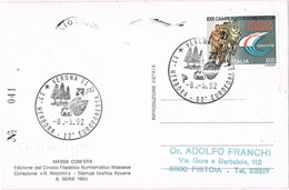 29082. Postal VERONA (Italia) 1992. HERBORA, Massa Di Carrara, REPRO - 6. 1946-.. Repubblica