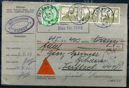 """German Empires,DR 1933 Nachnahmekarte Mit Mi.Nr.475 MIF Und TST""""Passau 2 (Innendienst)und Ankunftsstempel"""" 1 Karte Used. - Deutschland"""