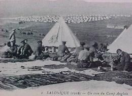 Cpa WW1 GRECE  SALONIQUE  Animée UN COIN DU CAMP ANGLAIS 1916 Soldats  Cheval WWI GREECE ENGLISH SOLDIERS CAMPEMENT - Guerre 1914-18