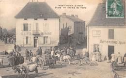 71 - SAONE ET LOIRE / 714368 - Montchanin Le Haut - Place Du Champ De Foire - Beau Cliché Animé - Sonstige Gemeinden