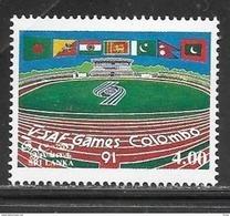 Sri Lanka 1991 5th South Asian Games Stadium Mint Never Hinged - Sri Lanka (Ceylon) (1948-...)