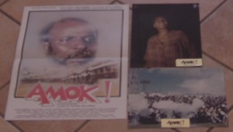 AFFICHE CINEMA ORIGINALE SYNOPSIS FILM AMOK ! A JOHANNESBURG + 2 PHOTOS AFRIQUE DU SUD APARTHEID 1984 - Manifesti & Poster