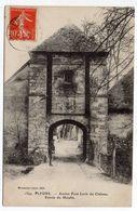 PLEURS  --1907--Ancien Pont Levis Du Chateau --Entrée Du Moulin ( Animée)--beau Cachet  PLEURS-51 - Andere Gemeenten