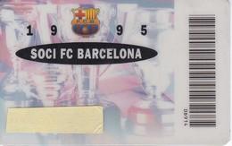 CARNET DE SOCIO DE FUTBOL CLUB BARCELONA AÑO 1995 ANUAL (FOOTBALL) BARÇA (BANCA CATALANA) - Tarjetas Telefónicas