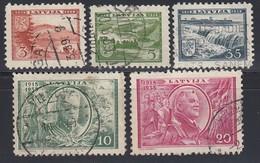 LETTLAND 1938 - MiNr: 264-267+269  Used - Lettland