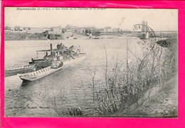 Cpa Carte Postale Ancienne  - Marmande Les Bords De La Garonne Et La Drague - Marmande