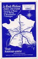 Carte Route Mediane  Geneve Berry Cote Azur Le Blanc La Chatre Bellac Confolens Beaune Dole Gien St Amand Montrond - Landkarten