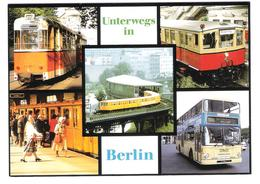 Germany - Verkehrmittel In Berlin - U-Bahn - S-Bahn - Tram - Tramway - Strassenbahn - Bus - Sin Clasificación