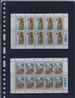 Belgie - Belgique 3800/03 Velletje Van 10 Postfris - Feuillet De 10 Timbres Neufs  -  Folklore En Traditie - Feuilles Complètes