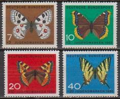 BRD 1962 MiNr.376 -379 ** Postfr. Jugend Schmetterlinge ( 6920 ) Günstige Versandkosten - BRD