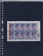Belgie - Belgique 3859 Velletje Van 10 Postfris - Feuillet De 10 Timbres Neufs  -  Mensenrechten - Feuilles Complètes