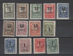 Memel _occup.Lituanie -  Surchargé (1923) N°156/158 - Memel (1920-1924)