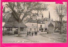 Cpa Carte Postale Ancienne  - ST SOZY--Place Du Marché - Francia