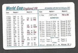 PAKISTAN USED CHIP PHONECARD TELECARD 30 UNITS WORLD CUP ENGLAND 1999 CRICKET - Pakistan