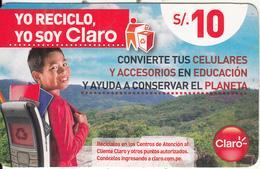 PERU - Boy, Claro Prepaid Card S/.10, Exp.date 09/08/16, Used - Peru