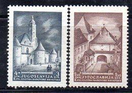 893 490 - YUGOSLAVIA 1941 ,  Serie Unificato 399/400  Linguellata  * - 1931-1941 Regno Di Jugoslavia