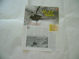 AEREO ELICOTTERO AVIAZIONE AERONAUTICA FASCICOLO SCHEDA TECNICA   H-23 RAVEN - Libri, Riviste, Fumetti