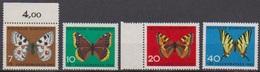 BRD 1962 MiNr.376 - 379 ** Postfr. Jugend: Schmetterlinge ( 6931 ) Günstige Versandkosten - BRD