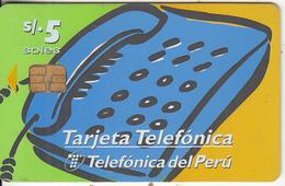 PERU - Teléfono Popular/Sistema Pago Fijo, Telefonica Telecard, 10/98, Used - Peru