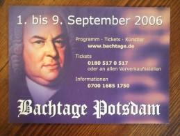 Bach Tage Potsdam Carte Postale - Advertising
