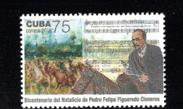 CUBA/KUBA 2018 BICENTENARIO DEL NATALICIO DE FELIPE FIGUEREDO MNH - Cuba