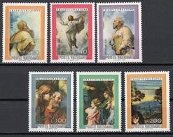 """Vaticano 1976 Blf. 598/603 """"Trasfigurazione (Dettagli)"""" Quadro Dipinto Raffaello MNH Paintings Elia Mosè Tavole Cristo.. - Religione"""