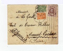 Sur Enveloppe Trois Timbres Empire Russe Oblitérés 1914. (542) - 1857-1916 Empire