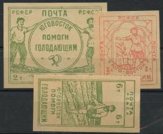 Russie (1922) N 176 + 177 +179 (charniere) - Neufs