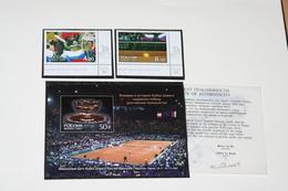 Russia 19.02.2003 Mi # 1061-62 Bl 52, First Russian Win Of Davis Cup, COA, MNH OG - Nuevos
