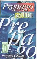 PERU - Prepago(blue), Celular 2000, BellSouth Prepaid Card S/. 100(thin Plastic), Exp.date 12/99, Used - Peru
