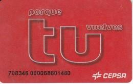 TARJETA DE GASOLINERA CEPSA (no Es Tarjeta Telefonica) PETROLEO - Oil