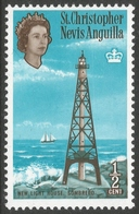 St Kitts-Nevis. 1963-69 QEII. ½c MH. Upright Block CA W/M. SG 129 - St.Christopher-Nevis-Anguilla (...-1980)