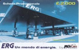 TARJETA DE GASOLINERA ERG  (no Es Tarjeta Telefonica) PETROLEO - Olie