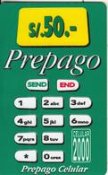 PERU - Green Calculator, BellSouth Prepaid Card S/. 50(thick Plastic), Exp.date 12/99, Used - Peru