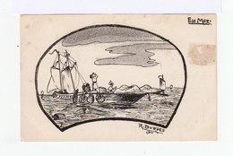En Mer. Bateaux, Pêcheurs. Siné R. Bordes. (2976) - Illustrateurs & Photographes