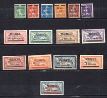 MEMEL. AÑO 1920. Mi 18/32  (MH) - Unused Stamps