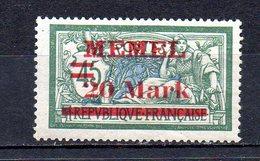 MEMEL. AÑO 1921. Mi 39  (MH) - Memel (1920-1924)