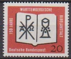 BRD 1962 MiNr.382 ** Postfr. 150 Jahre Württembergische Bibelanstalt ( 6940 ) Günstige Versandkosten - BRD