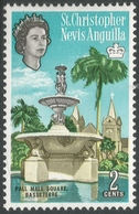 St Kitts-Nevis. 1963-69 QEII. 2c MH. Upright Block CA W/M. SG 131 - St.Christopher-Nevis-Anguilla (...-1980)