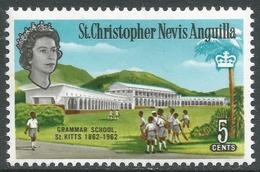 St Kitts-Nevis. 1963-69 QEII. 5c MH. Upright Block CA W/M. SG 134 - St.Christopher-Nevis-Anguilla (...-1980)