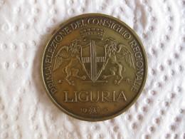 Italie Medaglia ELEZIONE CONSIGLIO REGIONALE LIGURIA 1970 - Italy