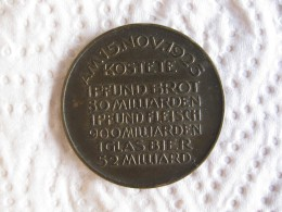 Médaille DES DEUTSCHEN VOLKES LEIDENSWEG  15 Novembre 1923 - Unclassified