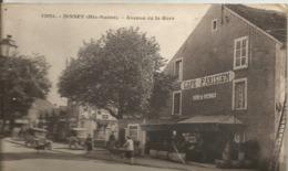 JUSSEY.....Hte-SAONE .av De La Gare....belle Animation ,  Café Parisien ..2 Voitures Tres Anciennes ...landau,,en 1933 - France