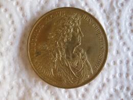 Médaille En Bronze LOUIS XIV 1667 MAUGER Refrappe Après 1880 - France