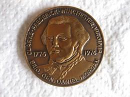 Medal 1976 Clarke Frederick Winchester, Virginia , Brigadier General Daniel Morgan - Unclassified