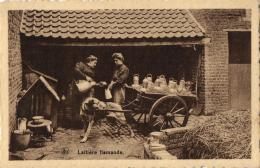 BELGIQUE - Laitière Flamande. - Paysans