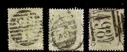 Grande-Bretagne YT N° 59 Trois Timbres Oblitérés. B/TB. A Saisir! - 1840-1901 (Victoria)