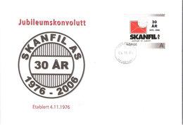 Norway 2006 My Stamp - Skanfil AS 30 Years Anniversary Mi 1588 Cover - Norway